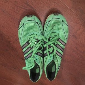 Adidas men's green athletic shoes 8.5